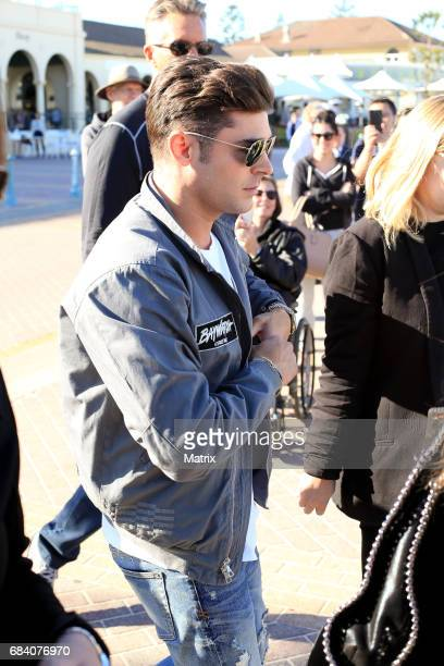 Zac Efron arrives at Bondi Beach to promote Baywatch on May 17 2017 in Sydney Australia