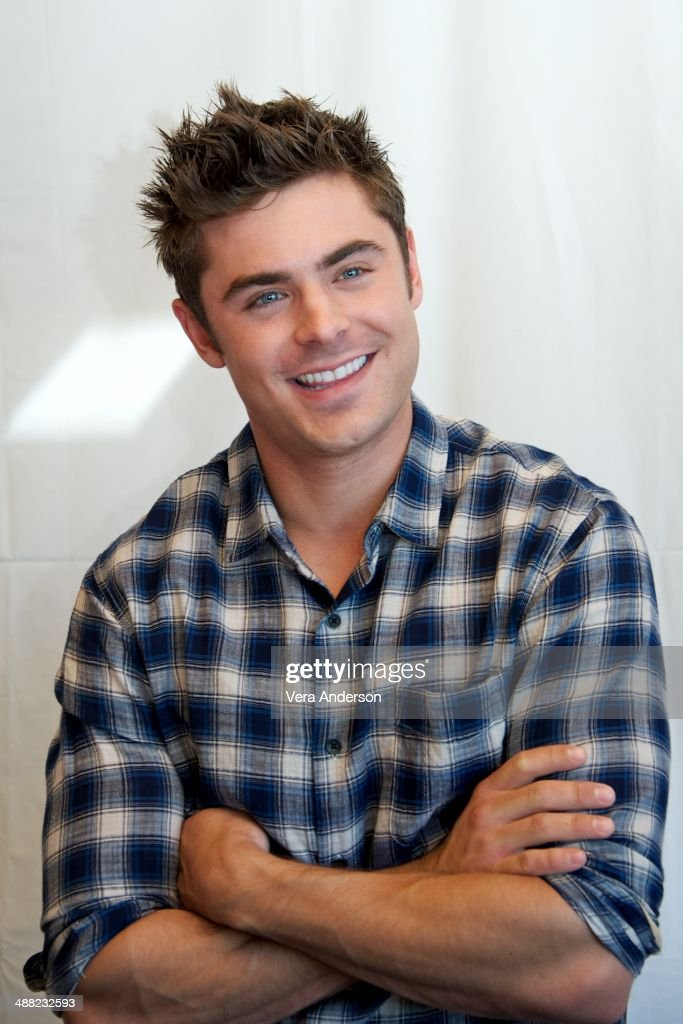 Zac Efron at the 'Neighbors' Press Conference at the Mandarin Oriental Hotel on May 3, 2014 in New York City.