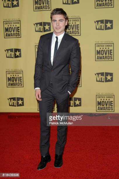 Zac Efron attends 2010 Critics Choice Awards at The Palladium on January 15 2010 in Hollywood California