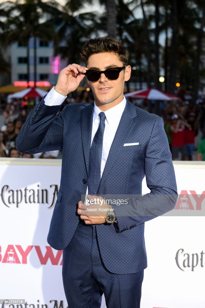 Zac Efron attends Paramount Pictures' World Premiere of 'Baywatch' on May 13, 2017 in Miami, Florida.
