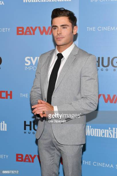 Zac Efron attends The Cinema Society's Screening Of 'Baywatch' at Landmark Sunshine Cinema on May 22 2017 in New York City