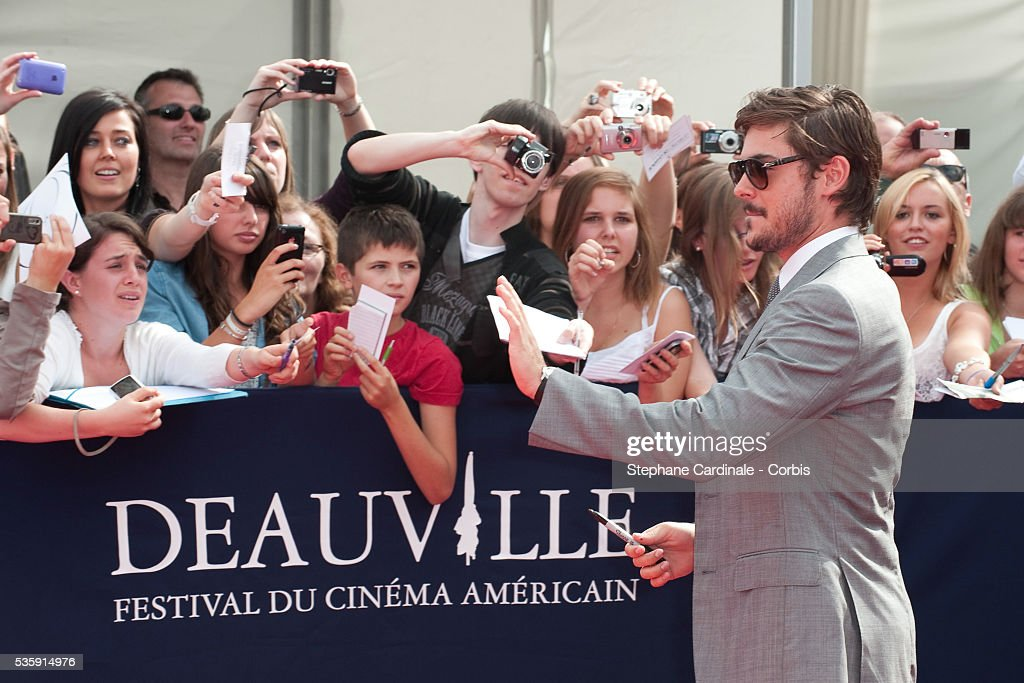 Zac Efron attends the premiere of movie 'Charlie St Cloud' at the 36th American Film Festival in Deauville.
