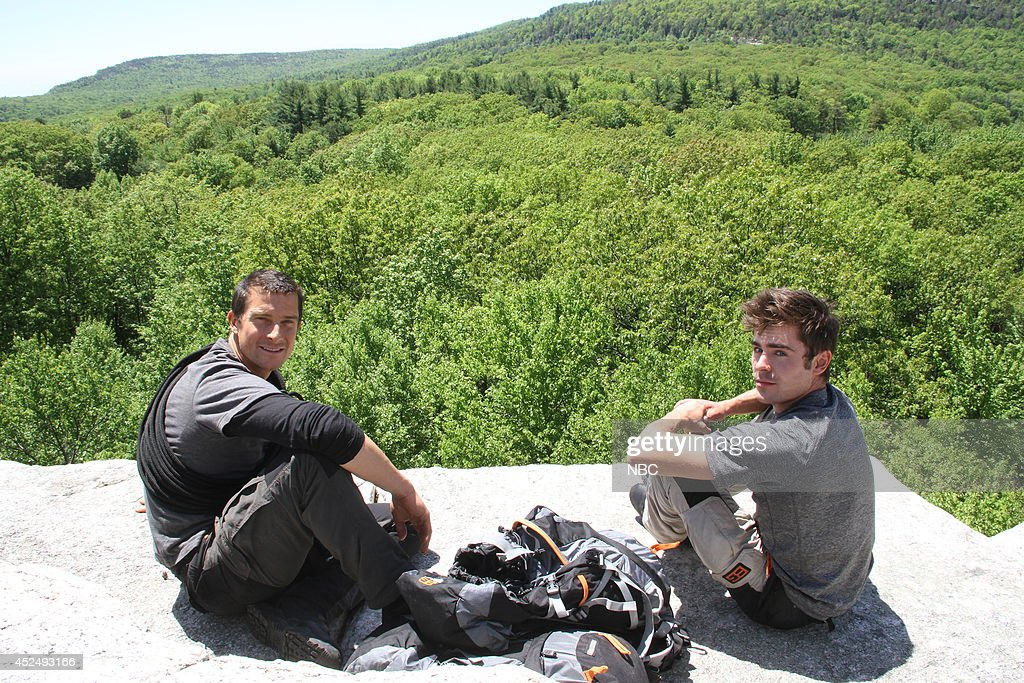 GRYLLS -- 'Zac Efron' Episode 103 -- Pictured: (l-r) Bear Grylls, Zac Efron -- Photo by: