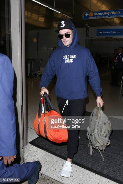 Zac Efron is seen at LAX on June 02 2017 in Los Angeles California