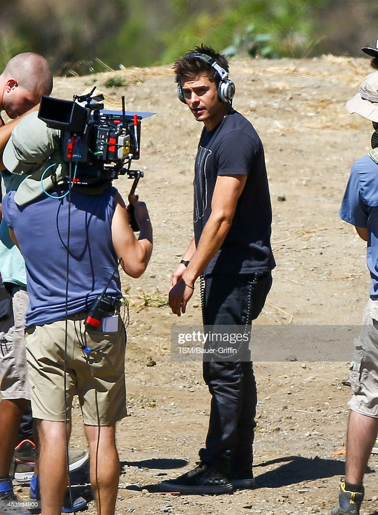 Zac Efron is seen filming 'We Are Your Friends' on August 21, 2014 in Los Angeles, California.