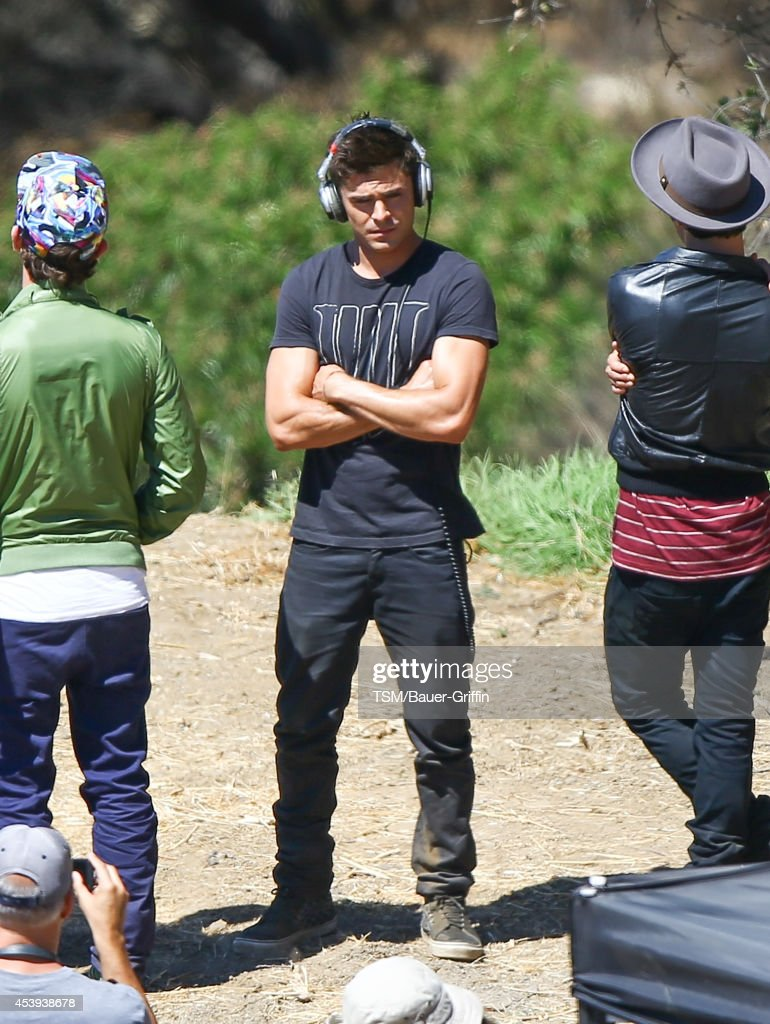 <a gi-track='captionPersonalityLinkClicked' href=/galleries/search?phrase=Zac+Efron&family=editorial&specificpeople=533070 ng-click='$event.stopPropagation()'>Zac Efron</a> is seen filming 'We Are Your Friends' on August 21, 2014 in Los Angeles, California.