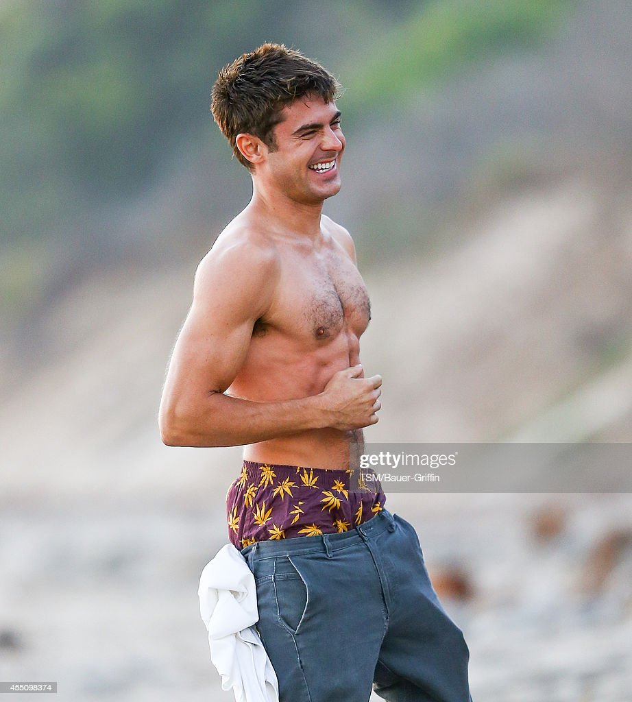 Zac Efron is seen on the set of 'We Are Your Friends' on September 09, 2014 in Los Angeles, California.