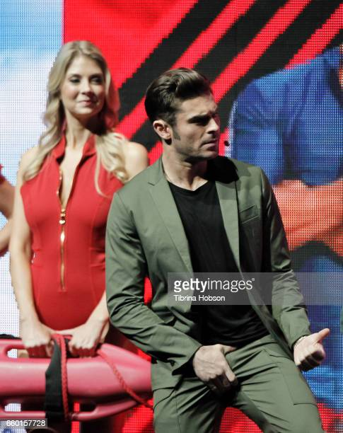Zac Efron speaks at Paramount Pictures' presentation highlighting its 2017 summer and beyond during CinemaCon at The Colosseum at Caesars Palace on...
