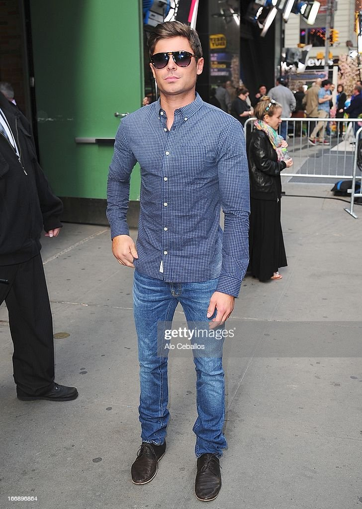<a gi-track='captionPersonalityLinkClicked' href=/galleries/search?phrase=Zac+Efron&family=editorial&specificpeople=533070 ng-click='$event.stopPropagation()'>Zac Efron</a> visits Good Morning America on April 18, 2013 in New York City.