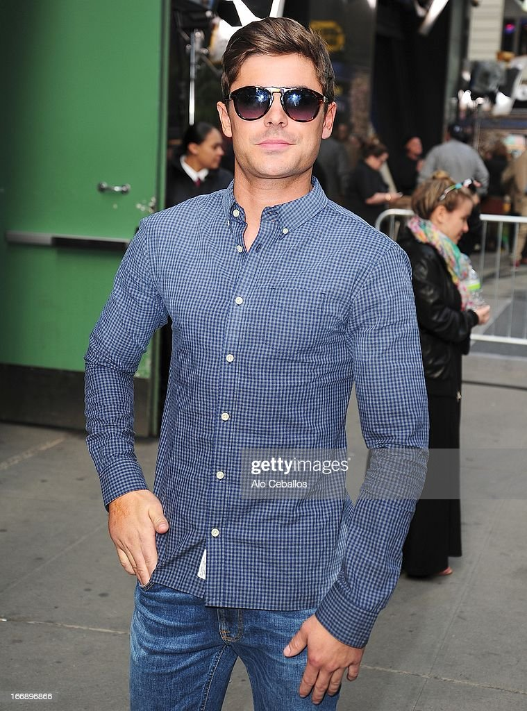 Zac Efron visits Good Morning America on April 18, 2013 in New York City.