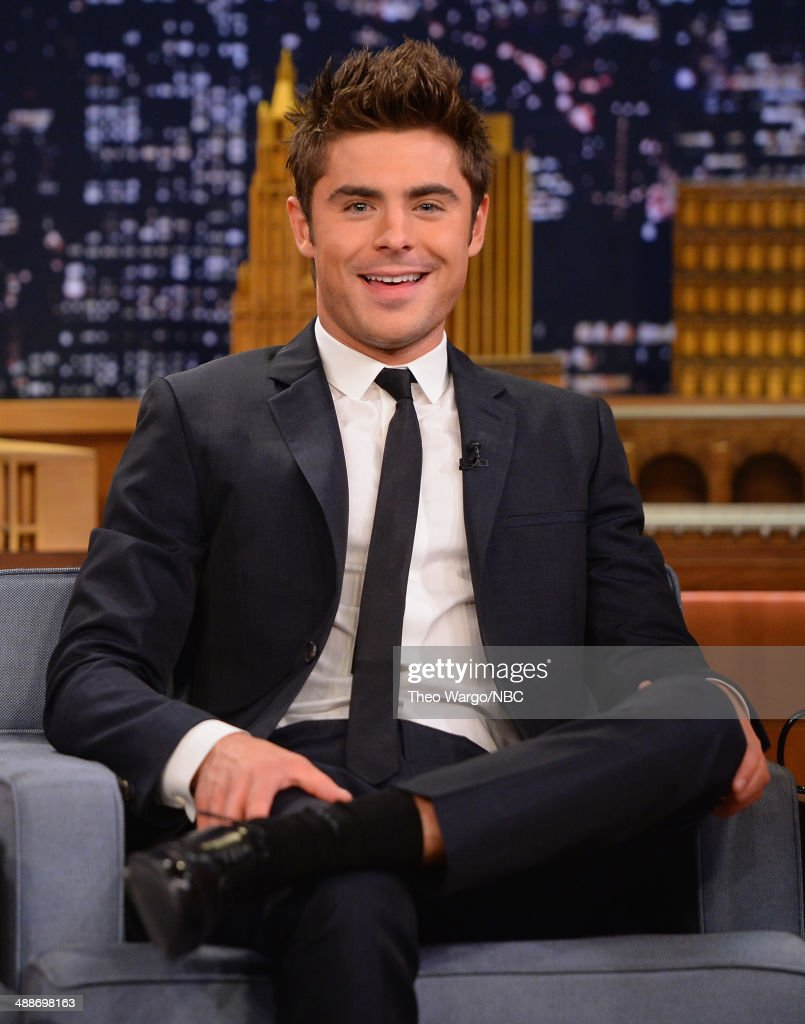 Zac Efron visits 'The Tonight Show Starring Jimmy Fallon' at Rockefeller Center on May 7, 2014 in New York City.