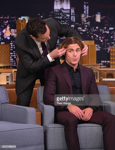 Zac Efron Visits 'The Tonight Show Starring Jimmy Fallon' at Rockefeller Center on May 18 2016 in New York City
