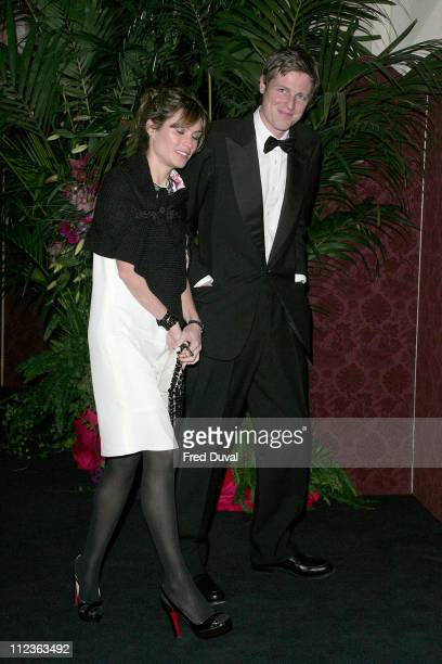 Zac Goldsmith and Sheherazade Goldsmith during The Diner des Tsars Outside Arrivals at Guildhall in London Great Britain