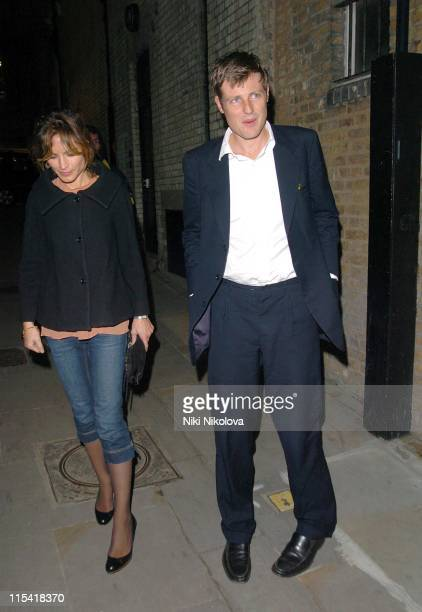 Zac Goldsmith and wife Sheherazade Goldsmith during Celebrity Sightings at Muse of Mayfair October 4 2006 at Bond Street in London Great Britain