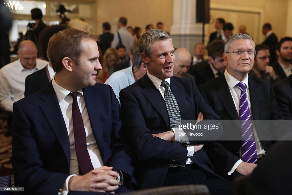 <a gi-track='captionPersonalityLinkClicked' href=/galleries/search?phrase=Zac+Goldsmith&family=editorial&specificpeople=161321 ng-click='$event.stopPropagation()'>Zac Goldsmith</a> MP (C) is seen in the audience before Former London Mayor and Conservative MP Boris Johnson speaks as he launches his bid to become the next Conservative party leader at St Ermin's Hotel on June 30, 2016 in London, England. Nominations for MP s to declare their intention to run for the Conservative Party Leadership and therefore British Prime Minister will close by noon today. The current Prime Minister and party leader, David Cameron, announced his resignation the day after the UK voted to leave the European Union.