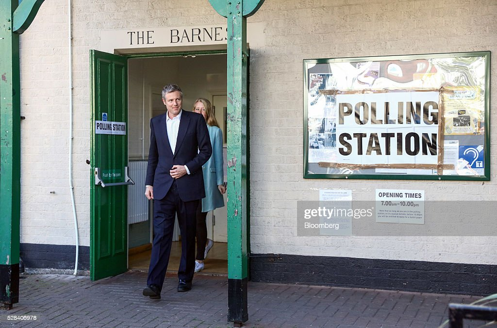 <a gi-track='captionPersonalityLinkClicked' href=/galleries/search?phrase=Zac+Goldsmith&family=editorial&specificpeople=161321 ng-click='$event.stopPropagation()'>Zac Goldsmith</a>, the Conservative Party candidate for London mayor, exit a polling station after voting in the Mayor of London and London Assembly elections in his constituency of Richmond Park & North Kingston in London, U.K., on Thursday, May 5, 2016. Britain goes to the polls Thursday in a series of local and legislative elections that will deliver a new mayor for London, continued nationalist government in Scotland and the voters' first verdict on Jeremy Corbyn's leadership of the opposition Labour Party. Photographer: Chris Ratcliffe/Bloomberg via Getty Images
