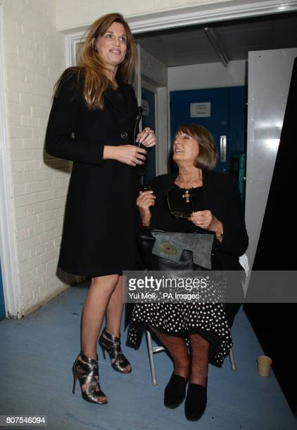 Zac Goldsmith's mother Annabel Goldsmith and his Jemima Khan at the General election count for the London Borough of Richmond upon Thames at Richmond...