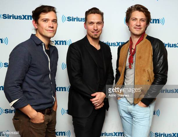 Zac Hanson Isaac Hanson and Taylor Hanson of the band Hanson visits the SiriusXM Studios on May 4 2017 in New York City