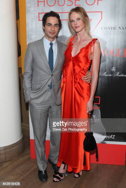 Zac Posen and Anne V attend the premiere of 'House Of Z' hosted by Brooks Brothers with The Cinema Society at Crosby Street Hotel on September 7 2017...