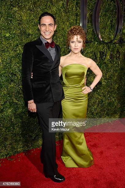 Zac Posen and Bernadette Peters attend the 2015 Tony Awards at Radio City Music Hall on June 7 2015 in New York City