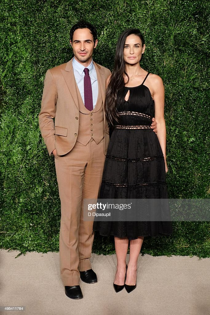 Zac Posen and Demi Moore attend the 12th annual CFDA/Vogue Fashion Fund Awards at Spring Studios on November 2 2015 in New York City