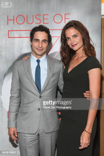 Zac Posen and Katie Holmes attend the premiere of 'House Of Z' hosted by Brooks Brothers with The Cinema Society at Crosby Street Hotel on September...