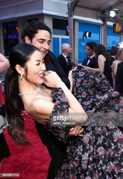 Zac Posen and Liu Wen attend the 2017 Tony Awards at Radio City Music Hall on June 11 2017 in New York City