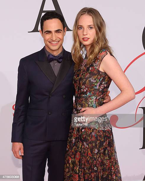 Zac Posen and Maya ThurmanHawke attend the 2015 CFDA Awards at Alice Tully Hall at Lincoln Center on June 1 2015 in New York City