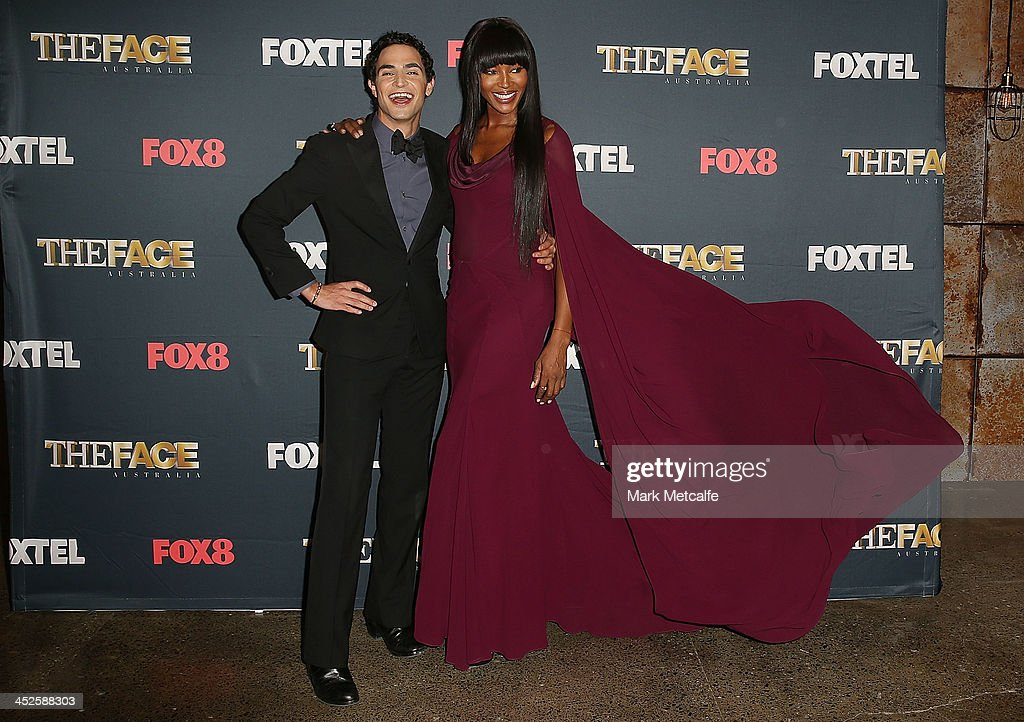 Zac Posen and Naomi Campbell pose during a photo call for Australian TV show, 'The Face of Australia' at Carriage Works on November 30, 2013 in Sydney, Australia.