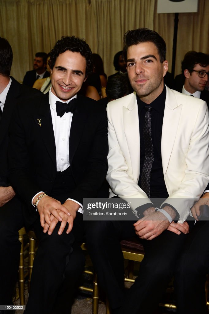 <a gi-track='captionPersonalityLinkClicked' href=/galleries/search?phrase=Zac+Posen+-+Fashion+Designer&family=editorial&specificpeople=4442066 ng-click='$event.stopPropagation()'>Zac Posen</a> (L) and <a gi-track='captionPersonalityLinkClicked' href=/galleries/search?phrase=Zachary+Quinto&family=editorial&specificpeople=715956 ng-click='$event.stopPropagation()'>Zachary Quinto</a> attend the amfAR Inspiration Gala New York 2014 at The Plaza Hotel on June 10, 2014 in New York City.