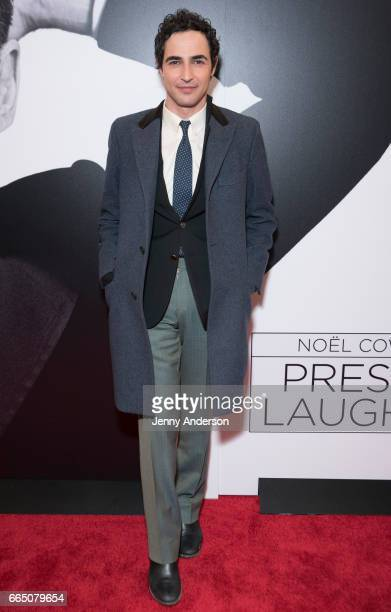 Zac Posen attends 'Present Laughter' opening at St James Theatre on April 5 2017 in New York City