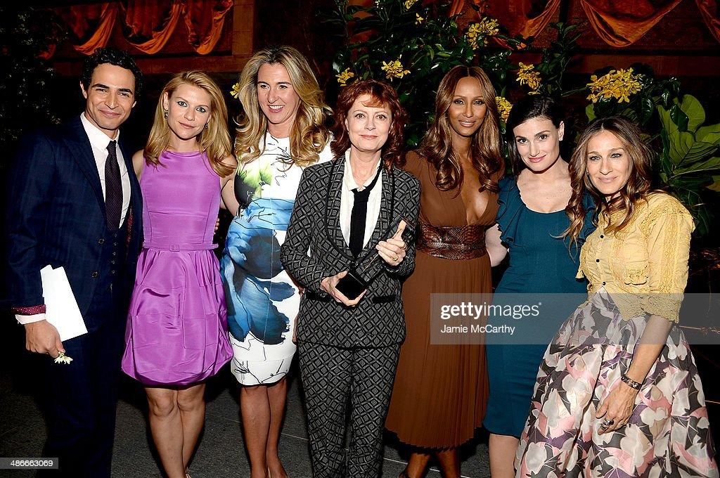 Zac Posen Claire Danes Nancy Dubuc Susan Sarandon Iman Idina Menzel and Sarah Jessica Parker attend Variety Power Of Women New York presented by FYI...