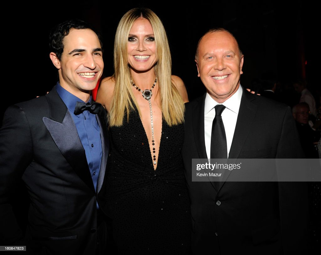 Zac Posen, <a gi-track='captionPersonalityLinkClicked' href=/galleries/search?phrase=Heidi+Klum&family=editorial&specificpeople=178954 ng-click='$event.stopPropagation()'>Heidi Klum</a> and Michael Kors attend the amfAR New York Gala To Kick Off Fall 2013 Fashion Week at Cipriani Wall Street on February 6, 2013 in New York City.