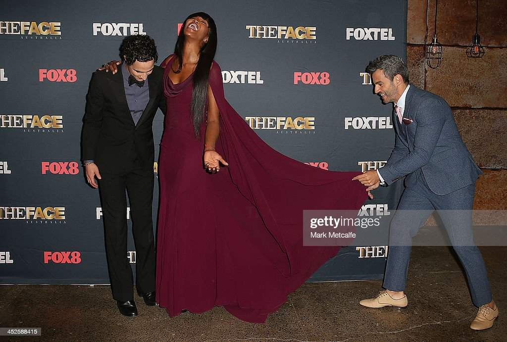 Zac Posen, <a gi-track='captionPersonalityLinkClicked' href=/galleries/search?phrase=Naomi+Campbell&family=editorial&specificpeople=171722 ng-click='$event.stopPropagation()'>Naomi Campbell</a> and Georges Antoni pose during a photo call for Australian TV show, 'The Face of Australia' at Carriage Works on November 30, 2013 in Sydney, Australia.