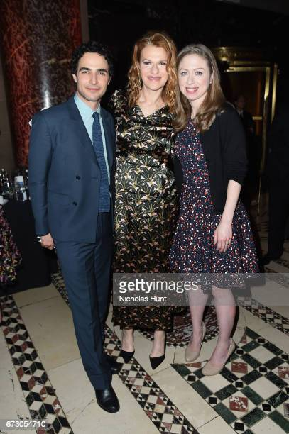 Zac Posen Sandra Bernhard and Chelsea Clinton attend the City Harvest's 23rd Annual Evening Of Practical Magic at Cipriani 42nd Street on April 25...