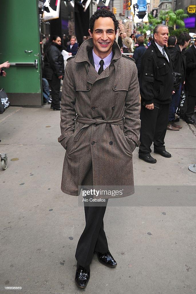 Zac Posen visits Good Morning America on April 18, 2013 in New York City.
