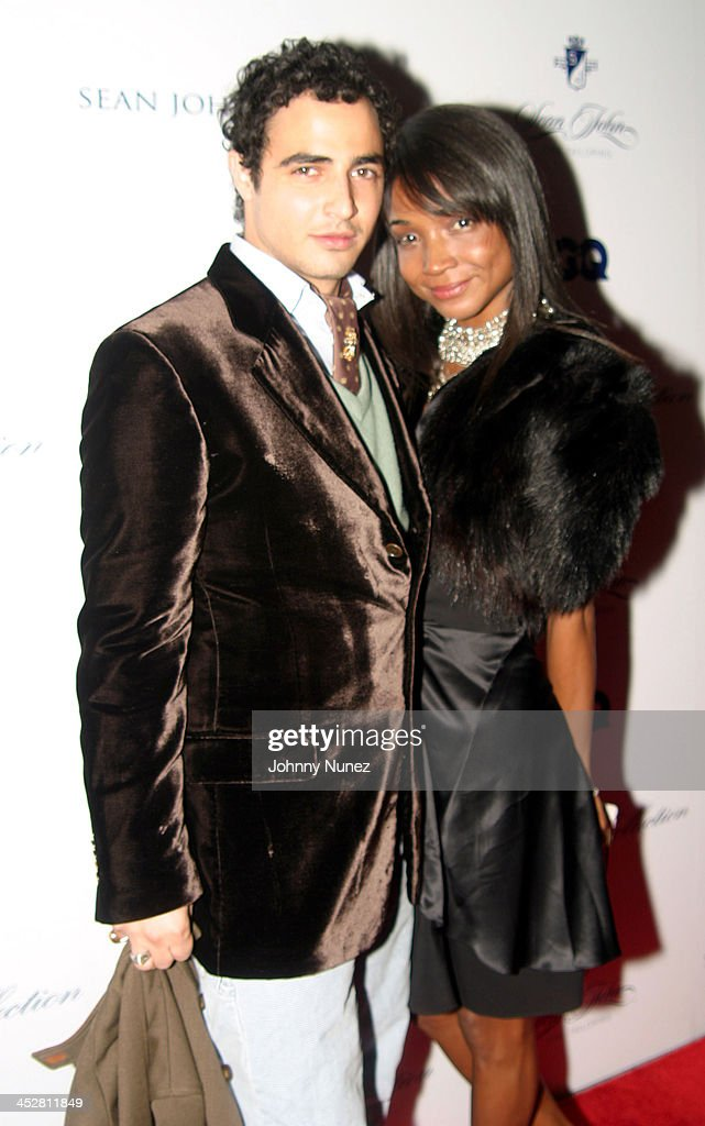 Zac Posner and <a gi-track='captionPersonalityLinkClicked' href=/galleries/search?phrase=Genevieve+Jones&family=editorial&specificpeople=212813 ng-click='$event.stopPropagation()'>Genevieve Jones</a> during Sean John Celebrates the Launch of Sean John Collection and Sean John Tailoring at Sean John Store 5th Store in New York City, New York, United States.
