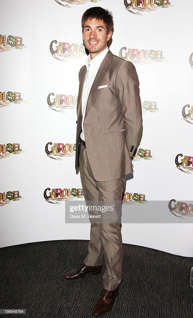 Zac Purchase attends the 'Carousel - Press Night - Curtain Call' at Barbican Theatre on August 20, 2012 in London, England.