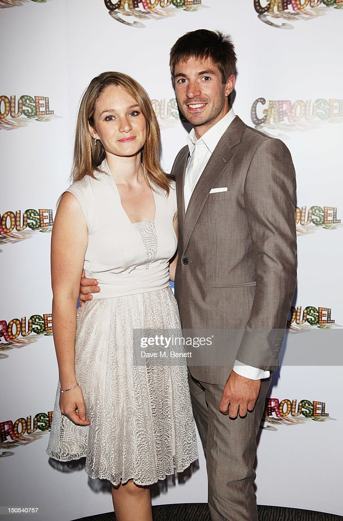 <a gi-track='captionPersonalityLinkClicked' href=/galleries/search?phrase=Zac+Purchase&family=editorial&specificpeople=761032 ng-click='$event.stopPropagation()'>Zac Purchase</a> with guest attends the 'Carousel - Press Night - Curtain Call' at Barbican Theatre on August 20, 2012 in London, England.