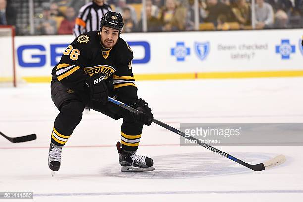 Zac Rinadlo of the Boston Bruins skates against the Florida Panthers at the TD Garden on December 12 2015 in Boston Massachusetts