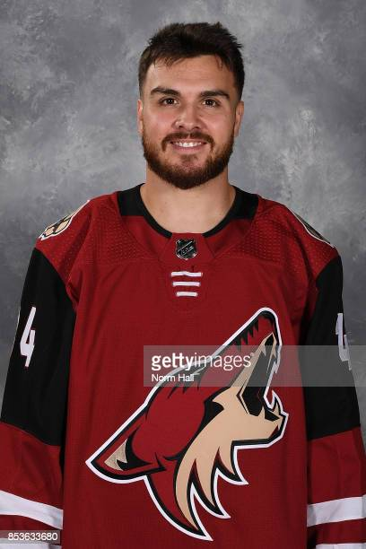 Zac Rinaldo of the Arizona Coyotes poses for his official headshot for the 20172018 season on September 14 2017 at the Gila River Arena in Glendale...