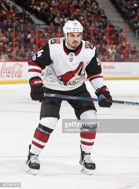Zac Rinaldo of the Arizona Coyotes skates against the Ottawa Senators at Canadian Tire Centre on November 18 2017 in Ottawa Ontario Canada
