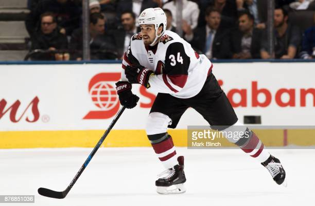 Zac Rinaldo of the Arizona Coyotesskates against the Toronto Maple Leafs during the first period at the Air Canada Centre on November 20 2017 in...