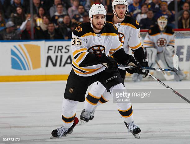 Zac Rinaldo of the Boston Bruins skates against the Buffalo Sabres at First Niagara Center on January 15 2016 in Buffalo New York