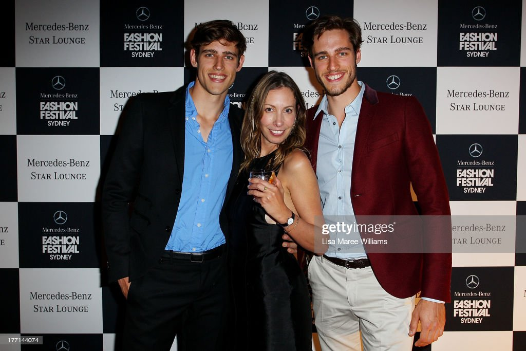 Zac Stenmark, Romy Freedman and Zac Stenmark at the MBFWA Trends show after party during Mercedes-Benz Fashion Festival Sydney 2013 at Sydney Town Hall on August 21, 2013 in Sydney, Australia.