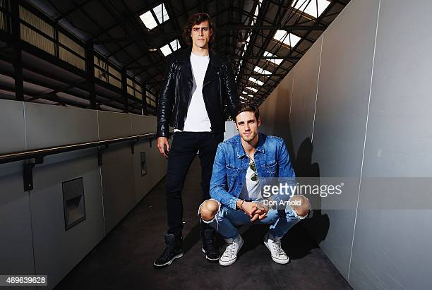 Zac Stenmark wears Belstaff jacket Basic Tshirt Calvin Klein jeans and Lavin shoes and Jordan Stenmark wears Jacket Tshirt and Jeans by Calvin Klein...