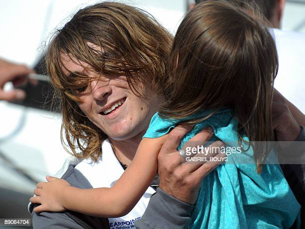 Zac Sunderland is welcomed by his sister at Marina Del Rey California on July 2009 The 17yearold teenager became the youngest person to...
