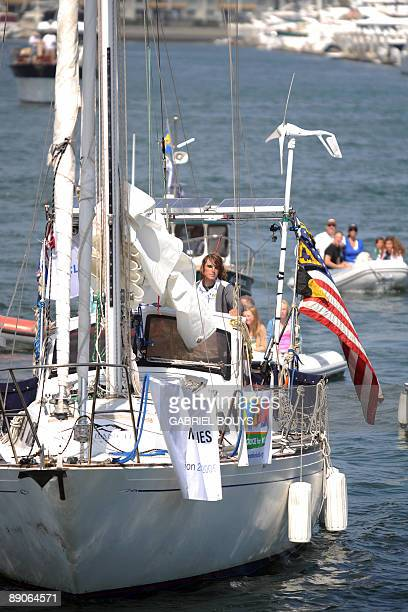 Zac Sunderland of the US arrives at Marina Del Rey California on July 2009 The 17yearold teenager became the youngest person to circumnavigate the...