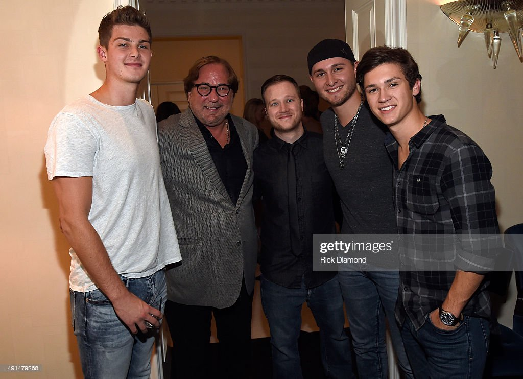 Zach Beeken of Restless Road Rod Essig of CAA Matthew Rector of Wright Entertainment Group Jared Keim and Garrett Nichols of Restless Road attend as...