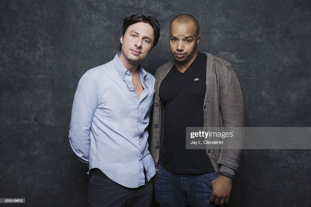 <a gi-track='captionPersonalityLinkClicked' href=/galleries/search?phrase=Zach+Braff&family=editorial&specificpeople=203253 ng-click='$event.stopPropagation()'>Zach Braff</a> and <a gi-track='captionPersonalityLinkClicked' href=/galleries/search?phrase=Donald+Faison&family=editorial&specificpeople=213042 ng-click='$event.stopPropagation()'>Donald Faison</a> are photographed for Los Angeles Times on January 18, 2014 in Park City, Utah. PUBLISHED IMAGE.